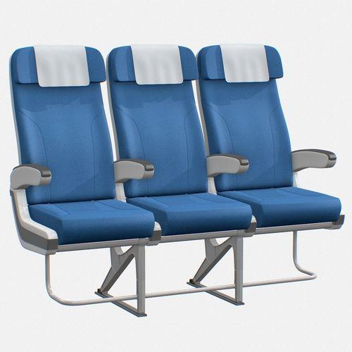 airplane chair 3d model low-poly max obj mtl 3ds fbx c4d tbscene tbmat 1