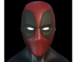 3D print model Deadpool Faceshell