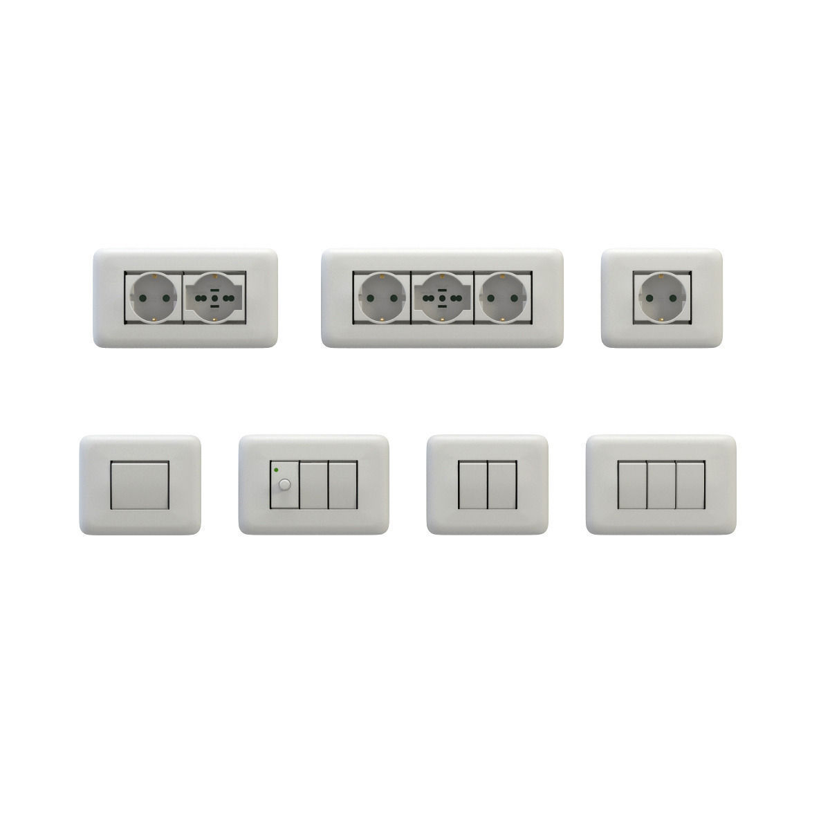 Sockets and switches 3D model | CGTrader for Wall Switches And Sockets  570bof