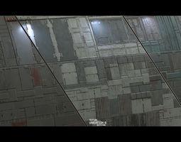 Scifi Wall Panel Texture Set B 3D