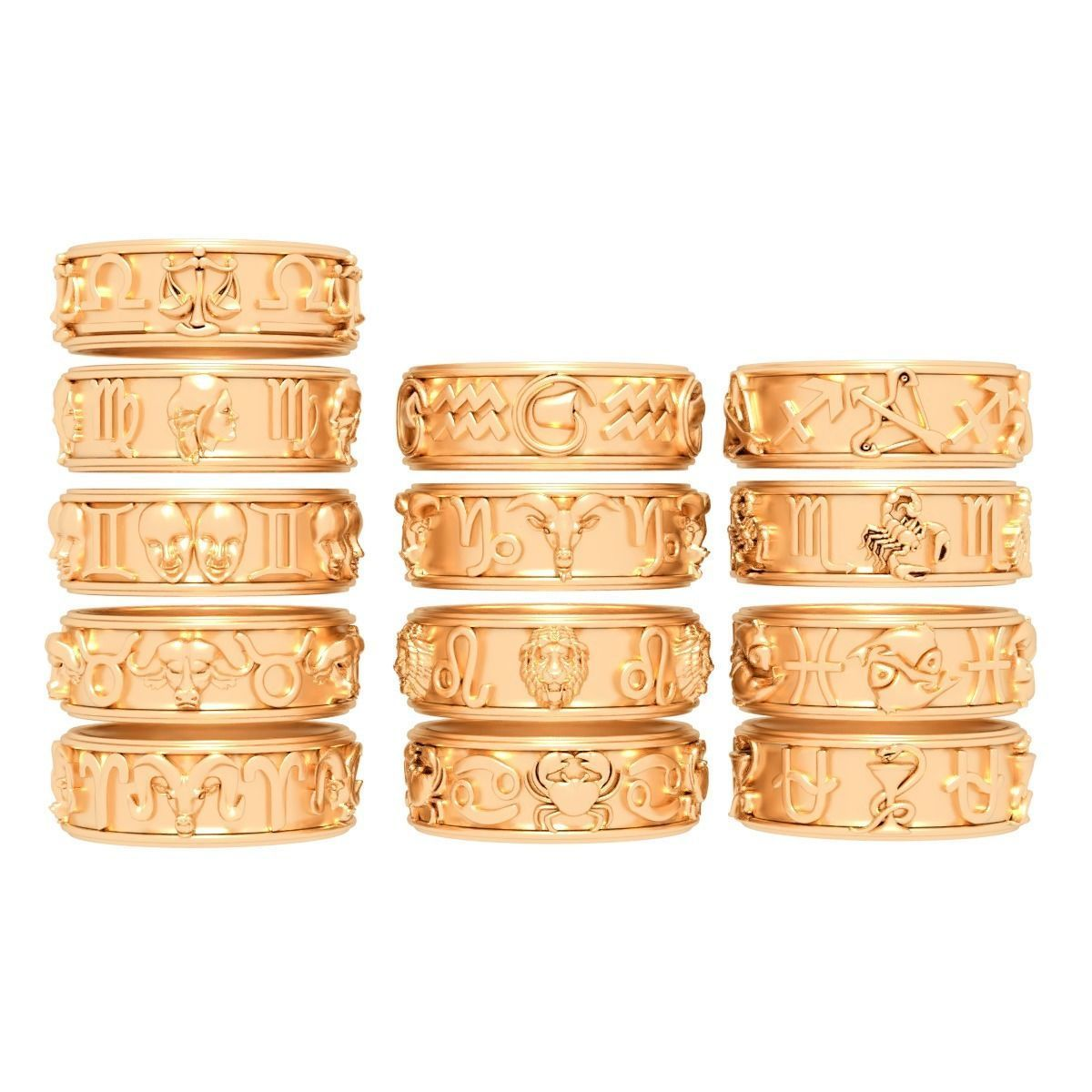Rings Zodiac Collection