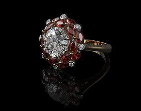 Ruby And Diamond Rings 3D print model