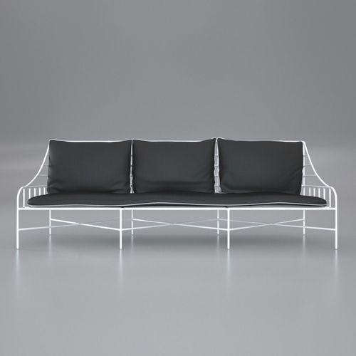 breton white metal sofa 3d model max obj mtl fbx c4d 1