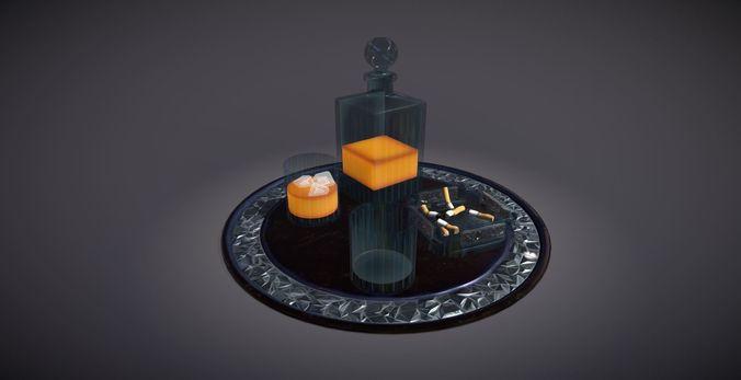 scotch serving tray 3d model obj mtl fbx tga 1