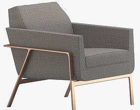 Holly Hunt Stilt Coupe Chair 3D model