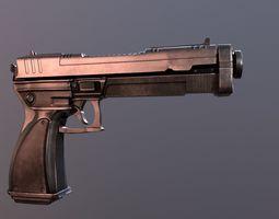 horror Hand Gun 3D model VR / AR ready