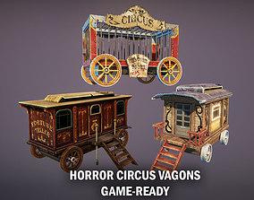 Horror circus vagons 3D model