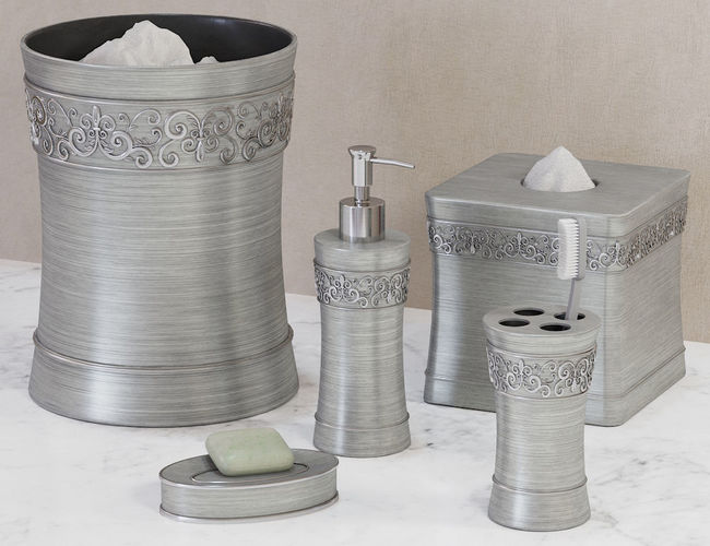 D Murano Brushed Silver Bath Accessories CGTrader - Brushed silver bathroom accessories