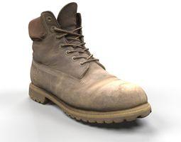 3D Timberland boots scan