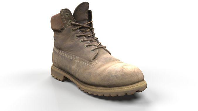 timberland boots scan 3d model obj ztl 1