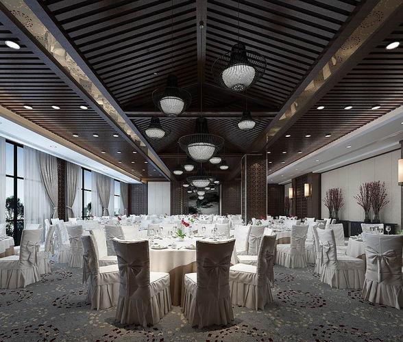 business restaurant - coffee - banquet  85 3d model max 1