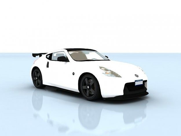 nissan 370z drift 2009 3d model animated rigged max tga. Black Bedroom Furniture Sets. Home Design Ideas