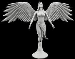 statue of angel 3d model max obj fbx stl ztl