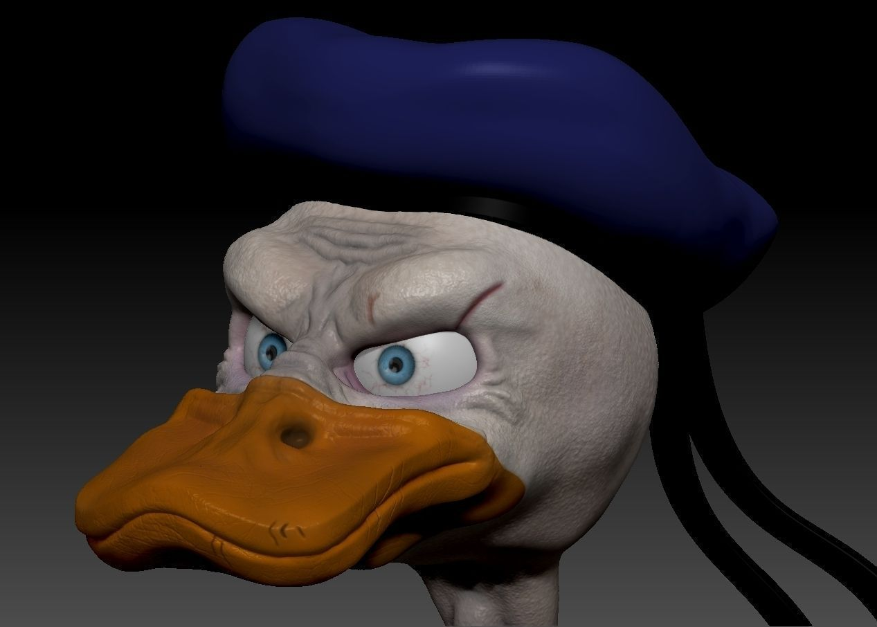 donald duck 3d model obj