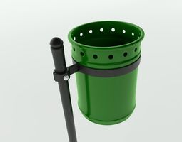 3D model Street Trash bin