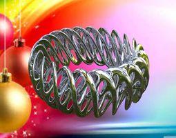 3d printable model x-mas mobius bracelets ceramics