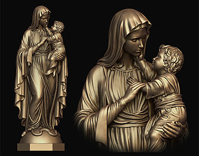 3D printable model Mary with Child Statue