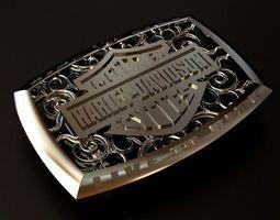 3D print model Harley Davidson Silver Belt Buckle