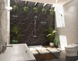 3D model Natural bathroom interior