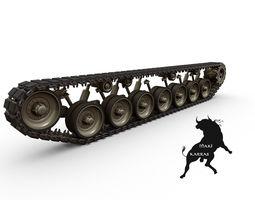Leopard 1   Tracks 3D Model