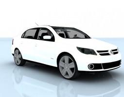 animated volkswagen voyage 2012 3d model