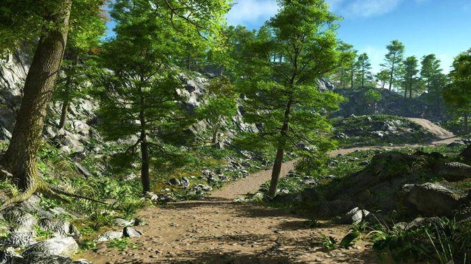 rough path in vue 3d model vue 1