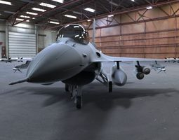F-16 Fighting Falcon 3D asset animated