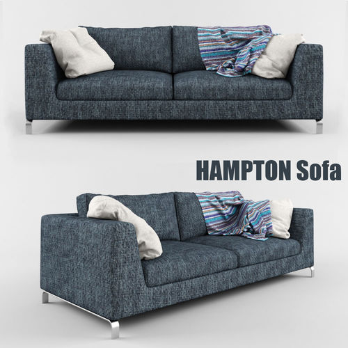Hampton Sofa Model Max Obj Mtl 1