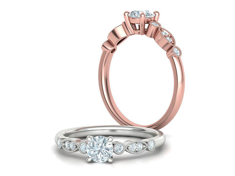 Promise Vintage Milgrain ring 0226