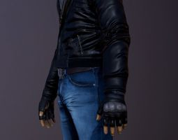 Male character 3D model realtime PBR