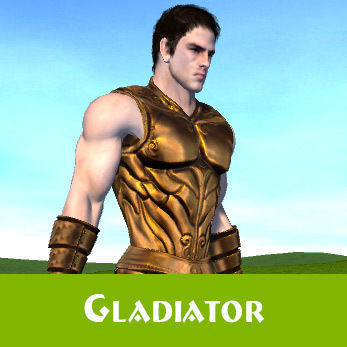 fantasy galdiator 3d model low-poly rigged animated max fbx blend dae X dbo 1
