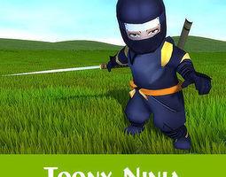 Toon Ninja 3D model