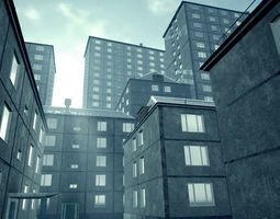 Soviet Apartment Buildings pack - 3 3D asset