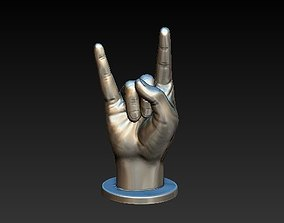 hand rock 3D printable model alphabet