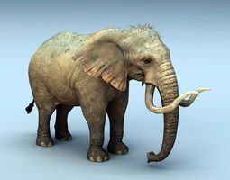 Mammoth Elephant 3d model animated