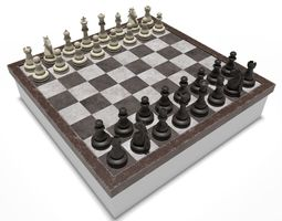 3D model low-poly Chess