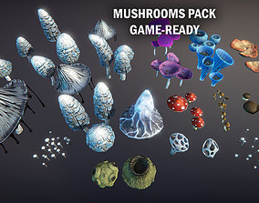 Mushrooms pack 3D asset