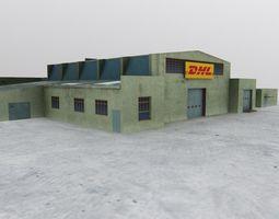 LHBP DHL Hangar 3D model