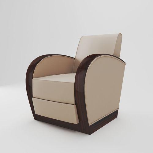 Art Deco Armchair   France About 1920 3D Model