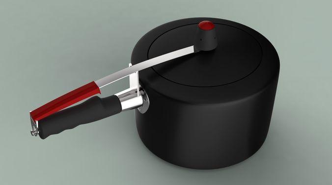 pressure cooker 3d model low-poly max obj mtl fbx 1