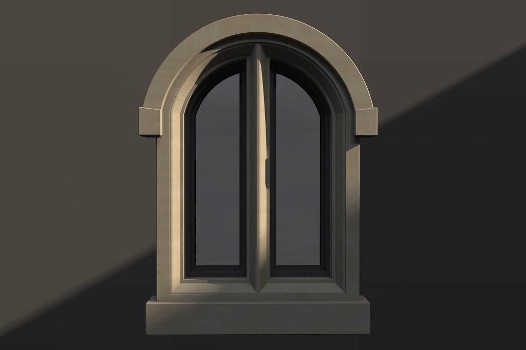 WINDOW arch gothic double 81   3D model