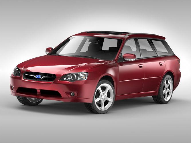 subaru legacy wagon 2003 - 2009 3d model max obj mtl 3ds fbx c4d ma mb 1