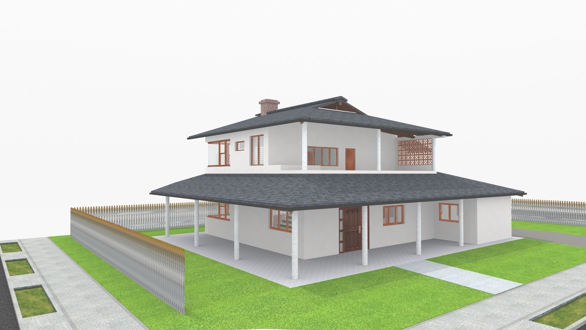 Small Simple Country House 3d Model
