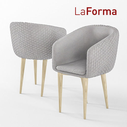 Harmon Quilted Tub Chair 3D Model