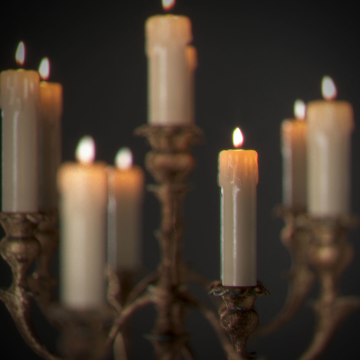 Candles on candlestick