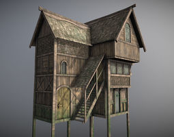 Medieval lake village - House 5 3D model