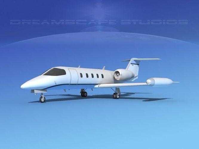 gates lear jet 35 v07 3d model max obj mtl c4d lwo lw lws dxf dae 1