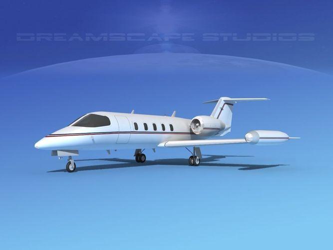 gates lear jet 35 v09 3d model max obj mtl 3ds c4d lwo lw lws dxf 1