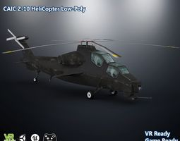 3D model CAIC Z-10 Attack Helicopter Low Poly