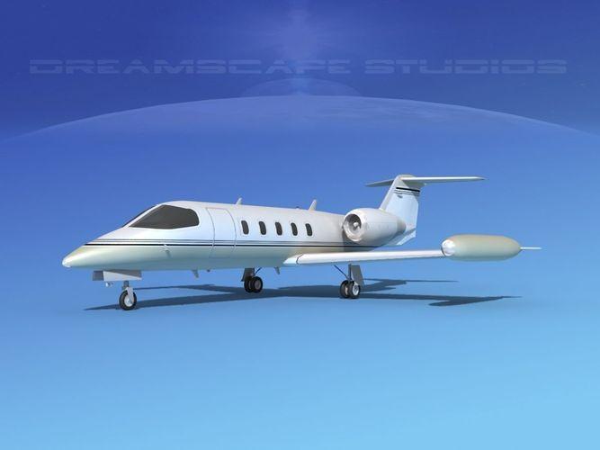 gates lear jet 35 v12 3d model max obj mtl 3ds c4d lwo lw lws dxf 1